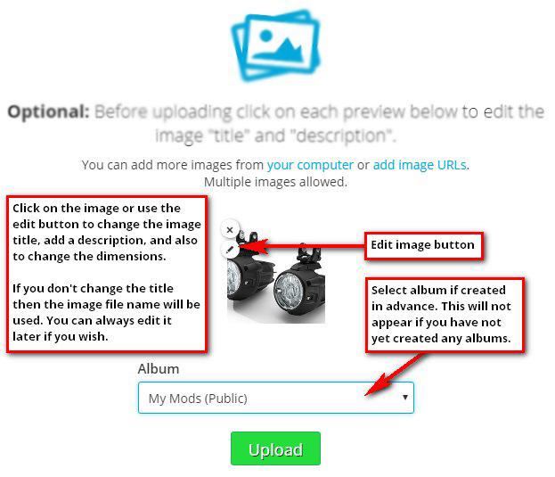 Edit image details